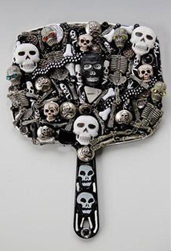 Skull Mirror by Julie Wishmeyer
