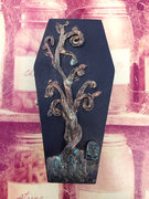 Spooky Tree with Headstone Coffin Box