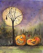 Spooky Moon Art