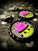 Frankencake earrings