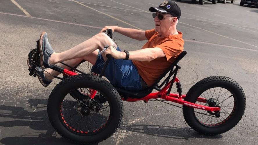 Ralf on his Trike