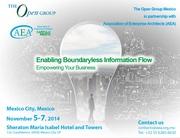 Congreso anual de Arquitectos Empresariales 2014 - By The Open Group with AEA Mexico