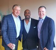 Paul Anthony with Moffitt President Bill Brand & Tampa Bay Buccaneers Owner Brian Glaser.