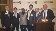 Moffitt CEO Dr.Alan List,  Young Deane Tan of our Mathematical Oncology Curriculum, Dr. Fred Locke of our Car-T Cell Therapy, Dr.Lou Harrison and Matt Lupe, Head of Philanthropy