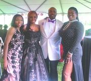 Paul Anthony with his daughter Bre,wife Michelle and Ellen Smith..