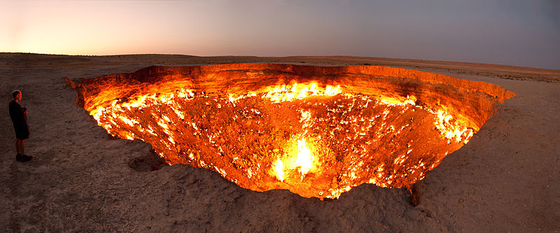 Picture of the Day: Darvasa gas crater
