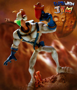Earthworm Jim sculpture