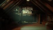 still of inside attic 'Moonbird' film in progress