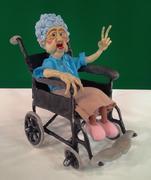 Doris in her Wheelchair