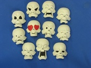 Skeleton faces