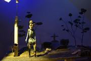 finished graveyard set with Walter puppet.
