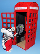 Zey The Mouse with Telephone Box.