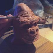Sculpting 'round face' Kong 1933
