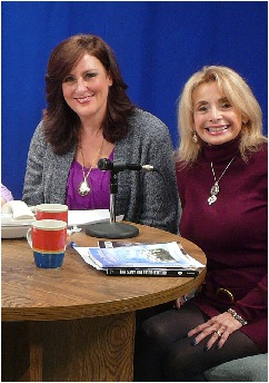 """With co host of """"Women of Spirit"""" and director of Eastern Suffolk Paranormal Society, Peggy Vetrano"""