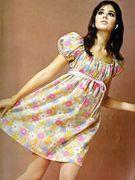 Sixties Babydoll Flower Dress
