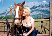 """Marilyn Monroe On Location for """"River of No Return"""""""