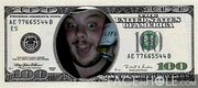 Face In Hole $100 Bill