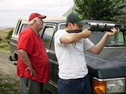 Target shooting with the gramps