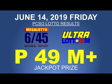 PCSO LOTTO RESULTS | JUNE 14, 2019 FRIDAY