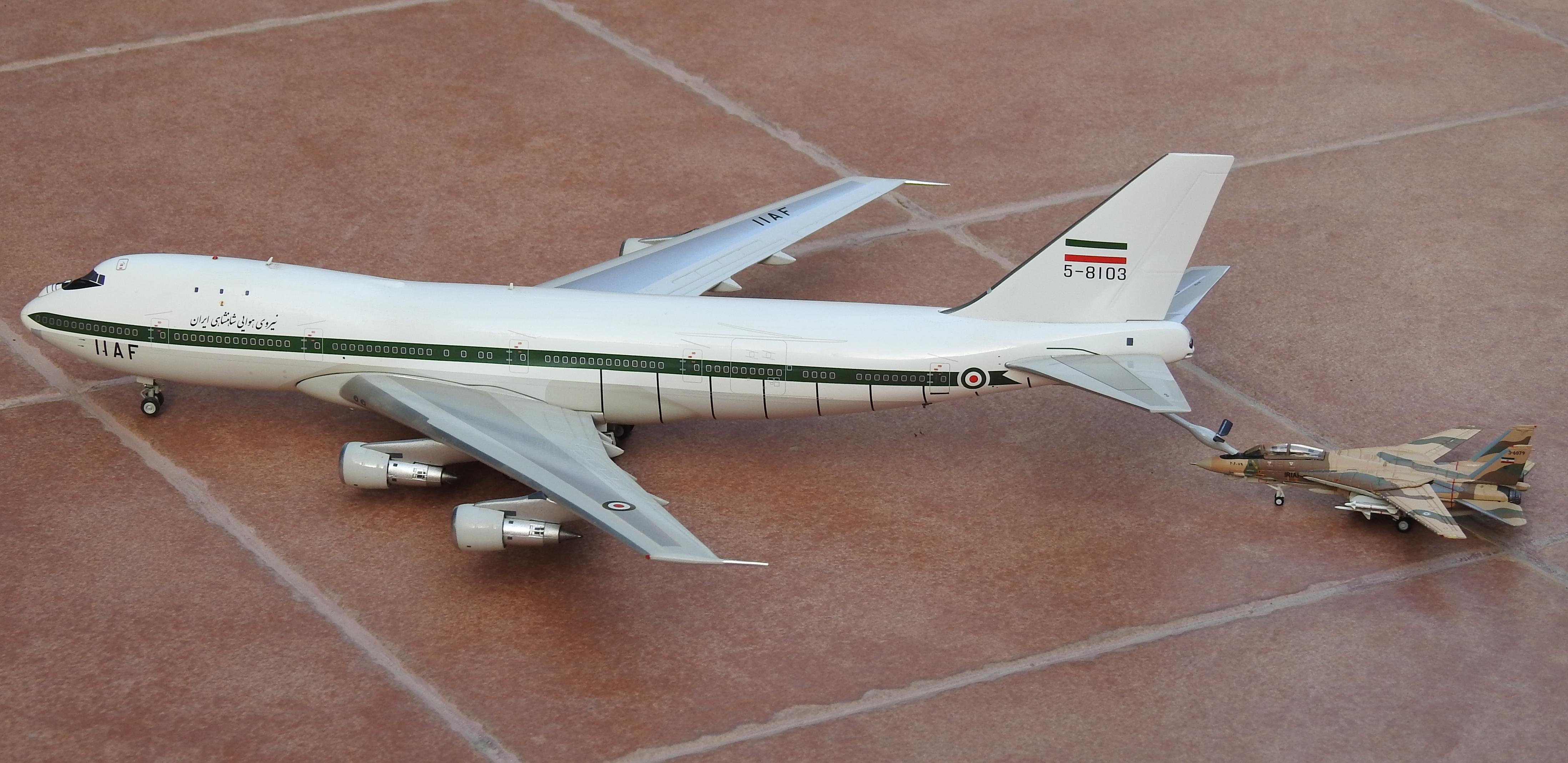 IF200 IIAF B747-100 & Hogan 1:200 IRIAF F-14