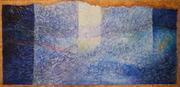 Light column. Acryl on paper. 230X113. 2009.