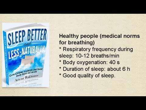 Sleep Better and Less - Naturally, Cure Chronic Insomnia (Book Trailer)