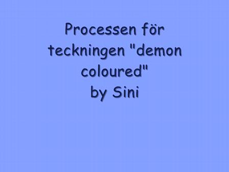 """Processen av """"the demon, coloured"""""""