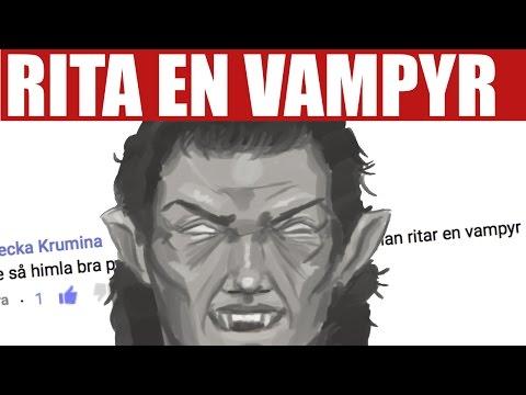 Hur man ritar en vampyr!