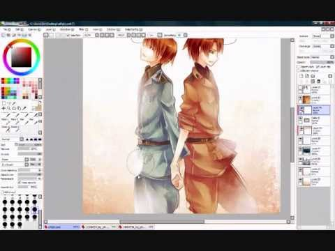 [APH] Romano and Italy speedpaint