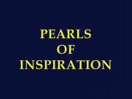 Pearls of Inspiration