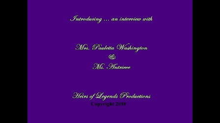 Ms. Antriece & Mrs. Pauletta Washington Interview