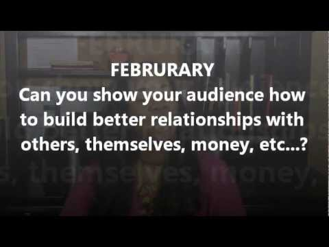 Weekly Content Creation Challenge #1 - Create Content Around a Monthly Holiday or Observance