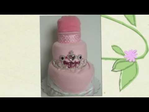 Happy Birthday Girl Diaper Cake