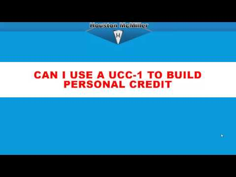 How To file an ucc-1 to build personal credit? www.3wayfunding.com