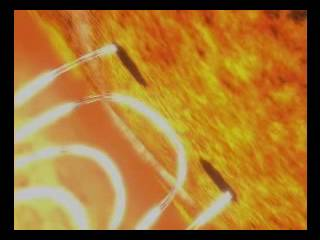 Animation of Sunspot Formation and Flare (artist view).