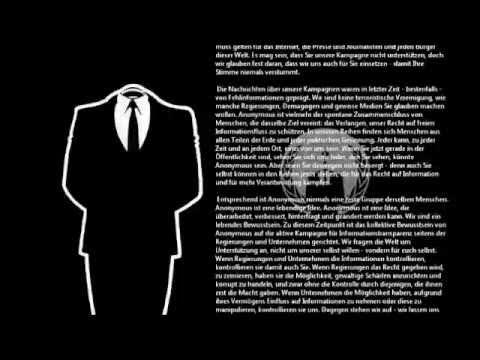 Eine Botschaft von Anonymous, 9. Dezember 2010