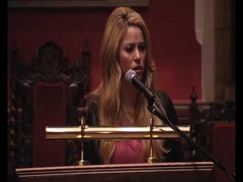Shakira's Speech at Oxford Union