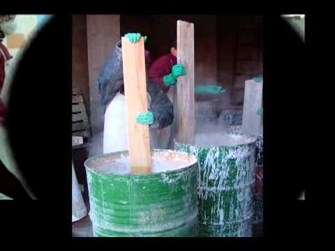 Proceso de elaboración artesanal de la cal en pasta