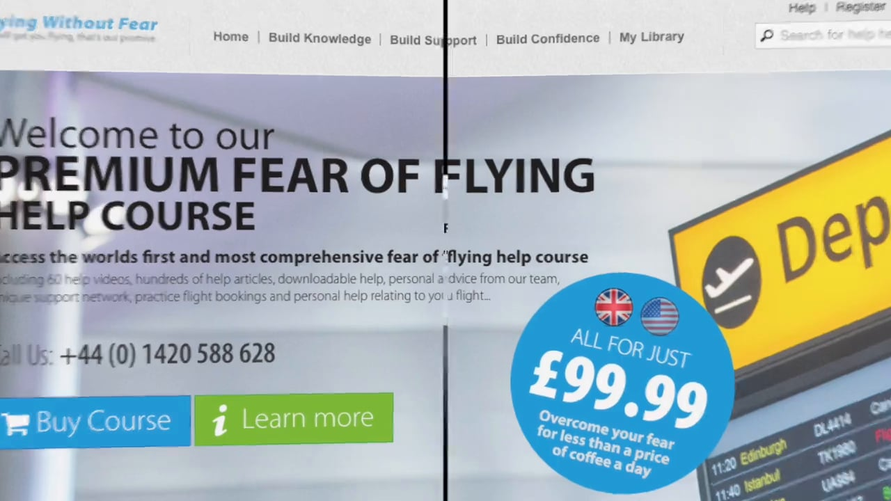 PREMIUM ON LINE COURSE Fear of flying Help Flight Board Feature