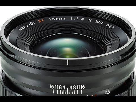 The New Fujinon XF16mm F1.4 R WR Lens
