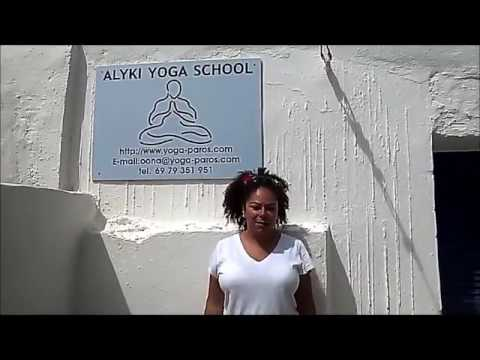 Oona's yoga, Aliki Yoga School, Paros, Greece.