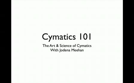 cymatics 101 - 1