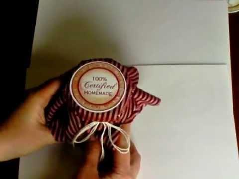 MAY 23 2011 UnityTV Episode #12, Samantha Walker's Home Baked Stamped Jar Topper, Unity Stamp Co.