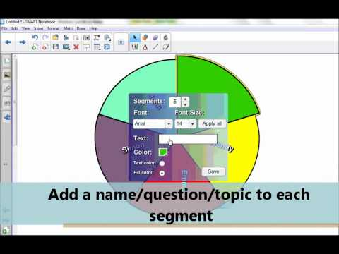 Smart Notebook: How to create a spinner and dice