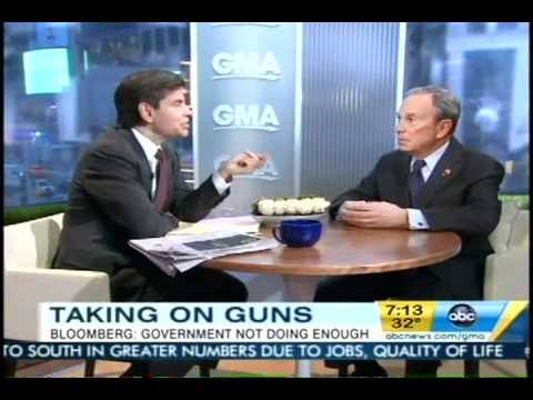 Mayor Bloomberg Launches The National Drive to Fix Gun Checks on Good Morning America