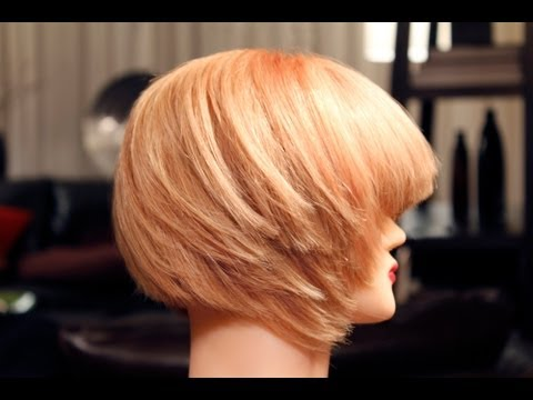 How to Blow dry and Flat Iron Bob Hairstyle