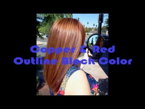 How to Create a Copper & Red Blocked Haircolor