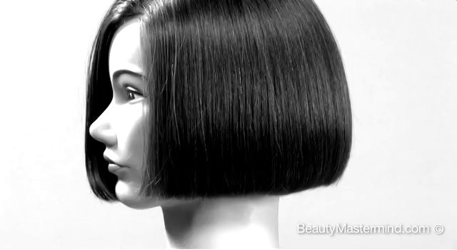 How to cut a One Length Square Bob Week 1