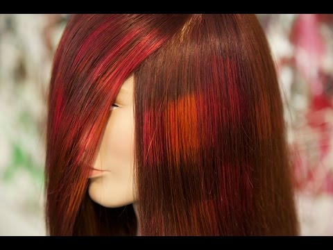 pixelate hair color technique how to, step by step