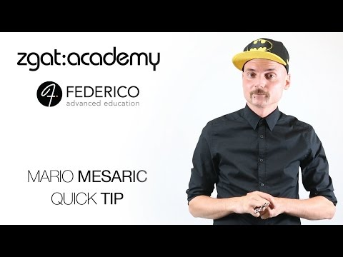 Mario Mesaric of the ZGAT academy Quick Tip
